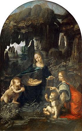 Leonardo_Da_Vinci_-岩窟の聖母の天使_(Louvre)