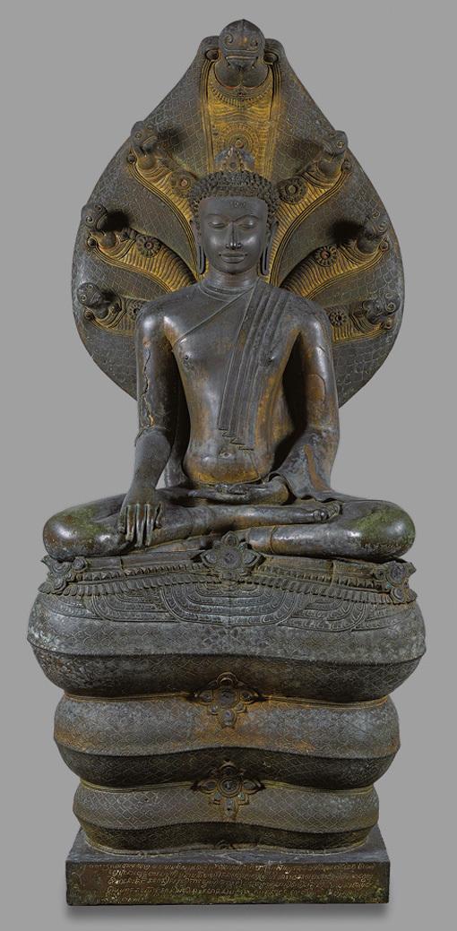 20170816 ナーガ上の仏陀坐像2 18cm