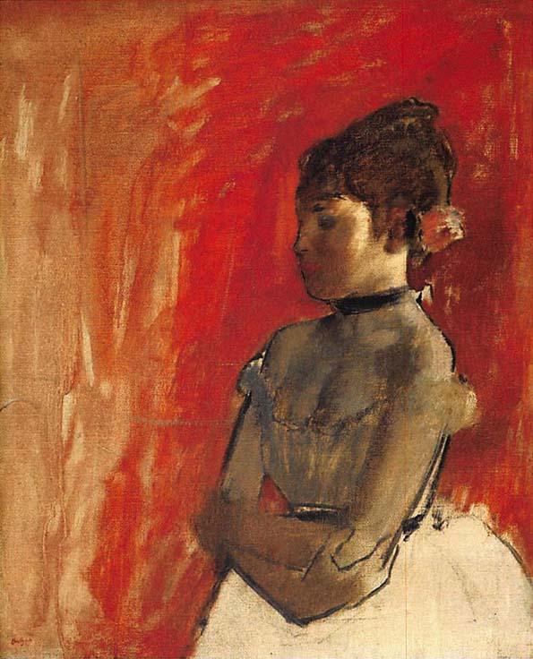 201708 Boston エドガー・ドガ『腕を組んだバレエの踊り子』1872年 21cm -with-arms-crossed-min