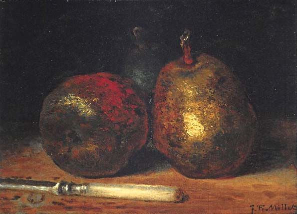 201808 Boston ジャン=フランソワ・ミレー『洋梨』1862-1866年頃 21cm millet--pears-min