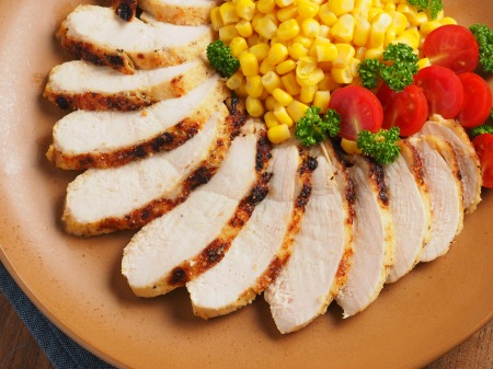 鶏むね肉のタバスコチーズ焼ン11