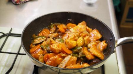 鶏むね肉の酢豚風08