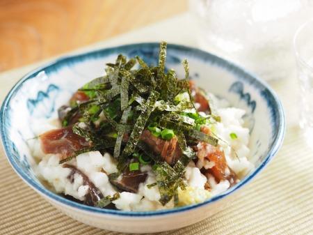 カツオ漬けのたたき長芋和え05