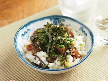 カツオ漬けのたたき長芋和え09