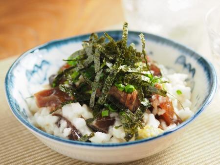 カツオ漬けのたたき長芋和え11