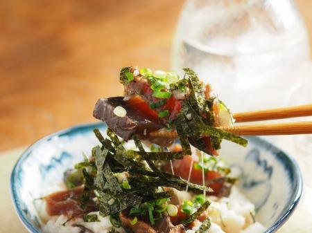 カツオ漬けのたたき長芋和え12