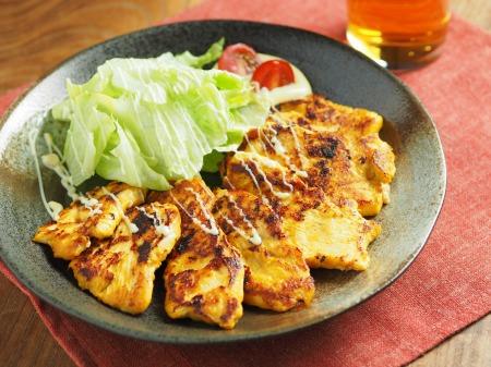 鶏むね肉のヨーグルトカレー焼21