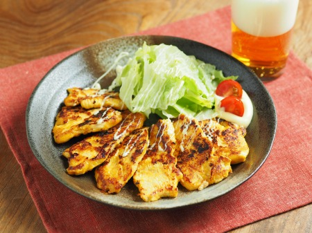 鶏むね肉のヨーグルトカレー焼19