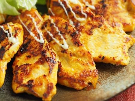 鶏むね肉のヨーグルトカレー焼14