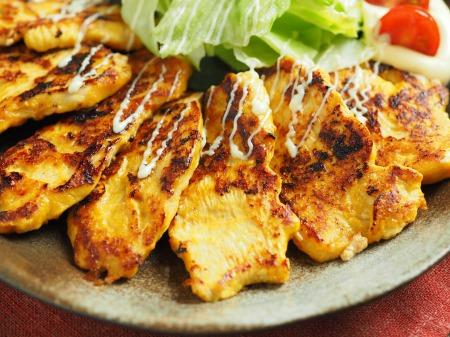 鶏むね肉のヨーグルトカレー焼11