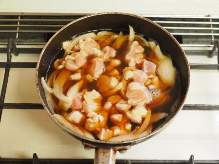 豆腐でカサ増し親子丼003