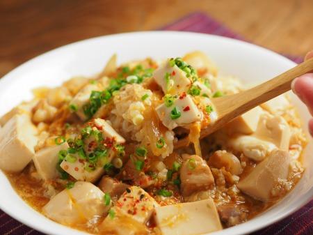 豆腐でカサ増し親子丼036