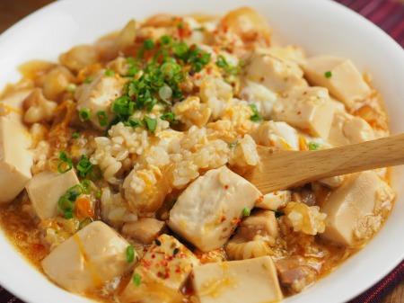 豆腐でカサ増し親子丼040