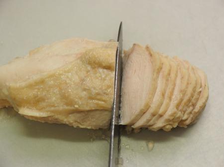 塩麹蒸し鶏041