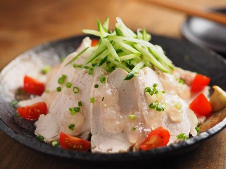 塩麹蒸し鶏065