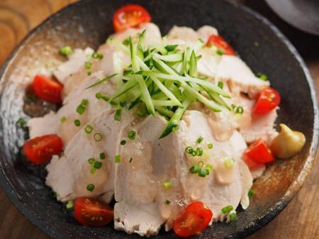 塩麹蒸し鶏059