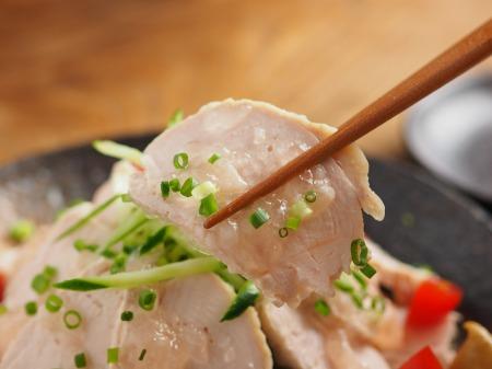 塩麹蒸し鶏071