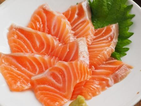 サーモン刺身の塩麹漬け011