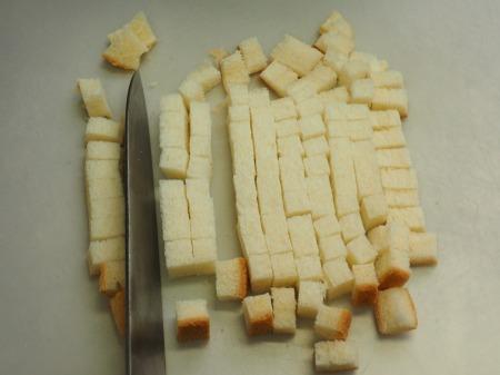 コーンスープ、手作りクルトン016