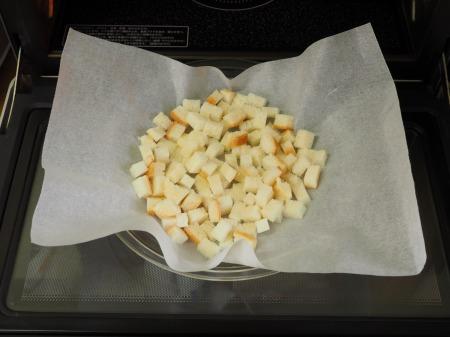コーンスープ、手作りクルトン017