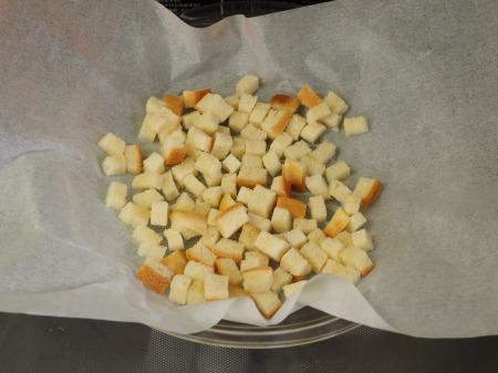 コーンスープ、手作りクルトン019
