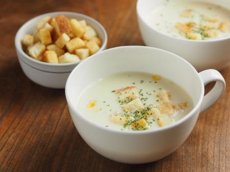 コーンスープ、手作りクルトン003