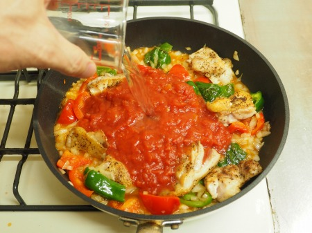鶏もも肉のガーリックトマト煮037