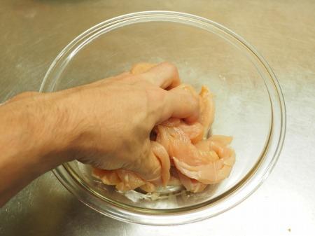 鶏むね肉ときのこの塩炒め034