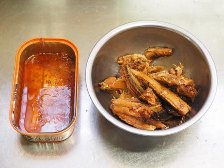 秋刀魚蒲焼きのニラ玉035