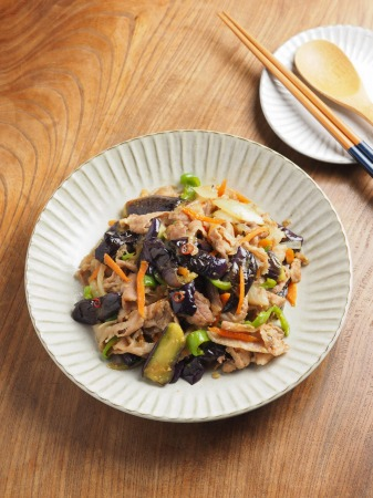 野菜たっぷり豚味噌炒め023
