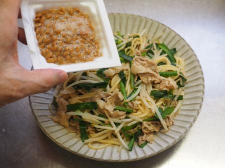 にらもやし納豆スパゲティ029