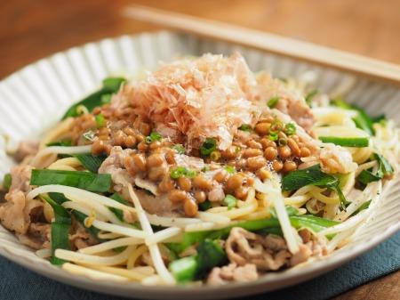 にらもやし納豆スパゲティ013