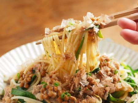 にらもやし納豆スパゲティ016