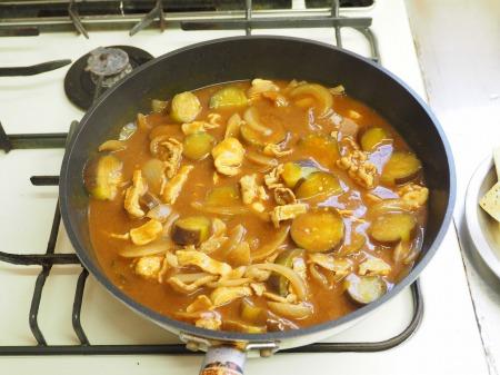 豆腐と茄子の炒めカレー037