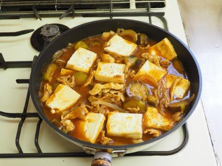 豆腐と茄子の炒めカレー038