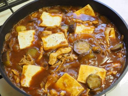 豆腐と茄子の炒めカレー040