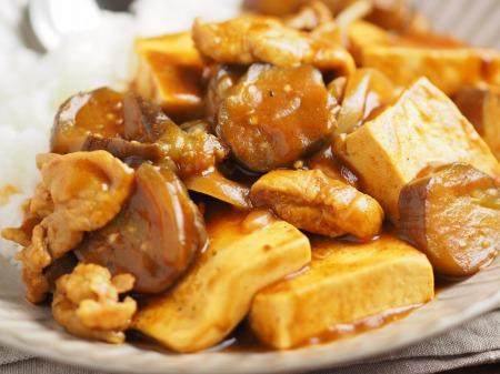 豆腐と茄子の炒めカレー016