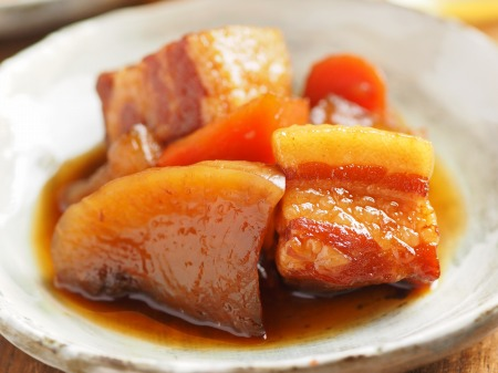 豚ばら肉と大根の煮物029