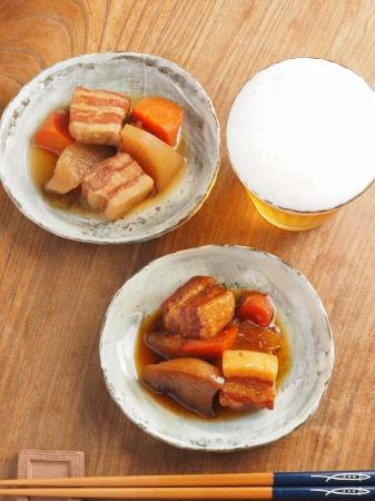 豚ばら肉と大根の煮物030