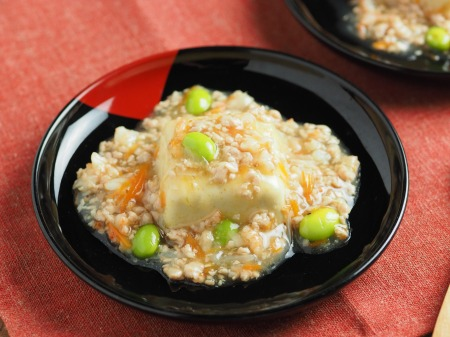 カレー豆腐のキーマあんかけ030