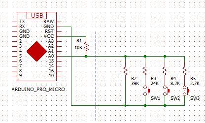 二線式スイッチ回路図