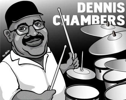 Dennis Chambers caricature likeness
