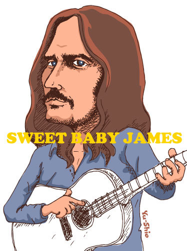 James Taylor caricature likeness