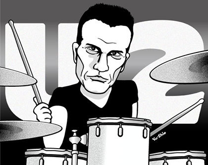 Larry Mullen Jr. caricature likeness