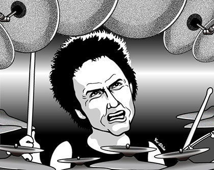 Terry Bizzio caricature likeness