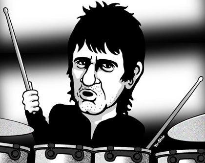 Zak Starkey caricature likeness
