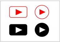 再生ボタンのフリー素材テンプレート・画像・イラスト