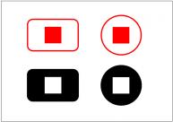 停止ボタンのフリー素材テンプレート・画像・イラスト