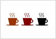 コーヒーカップのフリー素材テンプレート・画像・イラスト