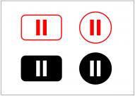 一時停止ボタンのフリー素材テンプレート・画像・イラスト